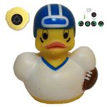 Custom Temperature Football Rubber Duck