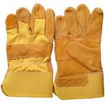 Custom Quality work labor gardening split leather glove with double palm protected gloves?