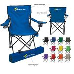 Custom Beach folding chair with 2 mesh cup holders