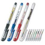 Custom Solid Color Gel Pen w/ Transparent Barrel
