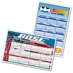 Custom Large Rectangle Calendar Magnet (5 3/8