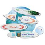 Custom USB 2.0 Fish Surfboard Flash Drive SF (2 GB)