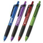Custom Summit Iridescent Grip Pen w/ Black Trim (5 5/8