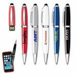 Custom USB 2.0 Pen Flash Drive + Stylus iP (2GB)