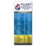 Custom X-Large Nascar Sports Schedule Magnets