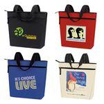 Custom Promotional Zip Tote Bag (18