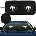 Custom Intertekline Econo Shade Autosunshade Fabric Sun shade Spring wire Sinle Fabric Dual round loops