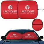Custom DX-Line Economy Sunshades With Double-Loop Two-Piece Design (Super Red)