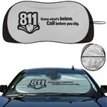 Custom Prest-O-Shade Registered Brand Patented Single Loop Collapsible Universal Fit Sunshade with Winglets
