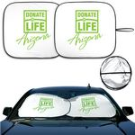 Custom DX-Line Economy Sunshades With a Double-Loop Two Piece Design (Bright White)