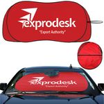 Custom Prest-O-Shade LS Registered Brand Patented Design, Single Loop Fabric Sunshade, with Wingletts