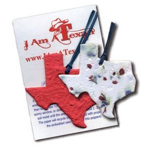 State of Texas Ornament w/Embedded Bluebonnet Seed