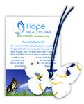 Custom Butterfly Ornament w/ Embedded Forget Me Not Seed
