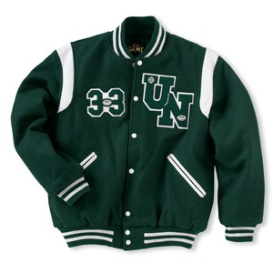 The Winner Custom Wool Varsity Jacket w/1-Color Leather Shoulder Inserts (Youth)