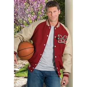 The Pro Custom Wool/Leather Varsity Jacket w/Raglan Sleeves (Adult)