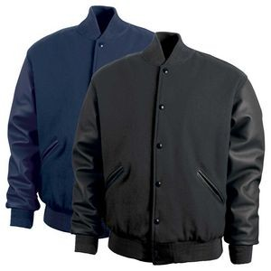The Custom Varsity Quilt-Lined Wool/Leather Jacket (Adult)