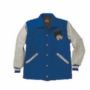 The Stadium Surcoat Custom Wool Varsity Jacket w/Leather Sleeves