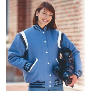 The Champ Custom Wool Varsity Jacket w/2-Color Leather Shoulder Insert & Leather Sleeves (Adult)