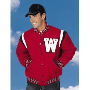 The Champ Custom Wool Varsity Jacket w/2-Color Leather Shoulder Insert