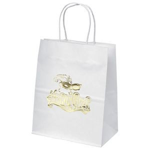 Mini White Shoppers Bag (Foil)
