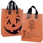 Custom Orange Frosted Pumpkin Shopper Halloween Bag