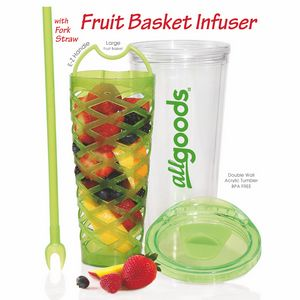 20 Oz. Fruit Basket Infuser Tumbler