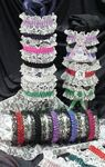 Custom 1 Color Garter w/ Lace Top and Bottom & 1 Color Imprinted Emblem