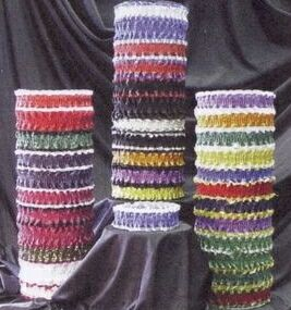 Plain Ribbon Leg Garter w/ 1 Color Emblem