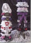 Custom 2 Tone Custom Single Bottom Laced Leg Garter w/ 1 Color Ribbon