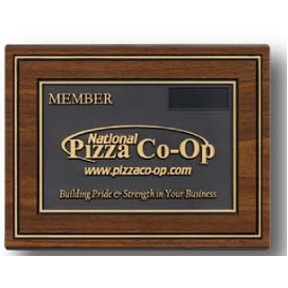 "Stock 3D Plaque w/Wood Look (6""x8"")"