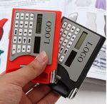 Custom Solar Energy Power Name Card Case With Calculator And Pen