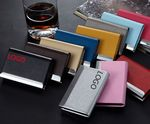 Custom PU Leather & Stainless Steel Business Name Card Holder