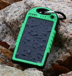 Custom Solar charger 5000mAh Solar Power Bank Dual USB Port Battery
