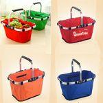 Custom 600D Oxford Folding Shopping Basket (17