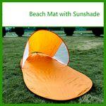 Custom POP UP Beach Sun Shade & Mat- Portable Sunshade SHELTER Children & Pet Canopy Adults Outdoor