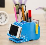 Custom Multifunction Plastic Pen/Pencil Holder Desk Organizer