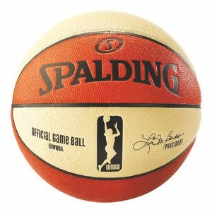 Spalding Official WNBA Game Ball, Orange/Yellow