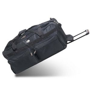 "Everest 30"" Deluxe Wheeled Duffel, Black"