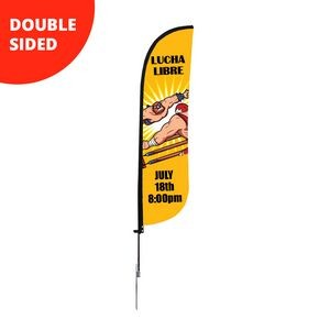 8.5' Feather Flag - Double Sided w/Spike Base (Small)