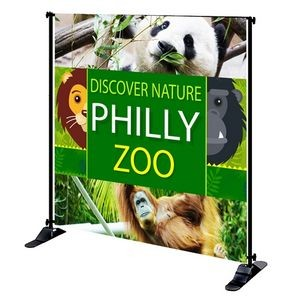 8' x 8' Mighty Banner Fabric Graphic w/ Large Tube Frame Kit