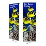 Custom Star Double-Sided Indoor Banner Stand (23.5
