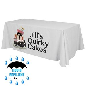 6 ft. x 30 Top x 29H - Liquid Repellent Table Throw (FRONT ONLY)