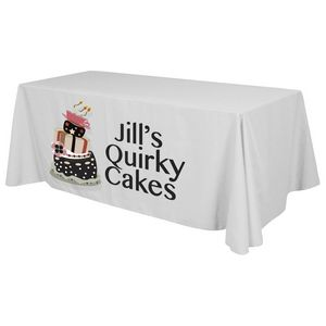 8 x 30 Top x 29 H Standard Table Throw (Front Print Only) Dye Sublimation