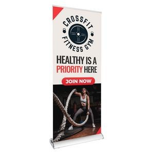 "33.5"" Wave Retractable Banner (Graphic & Hardware Package)"