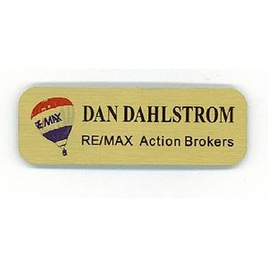 "1"" x 3"" - Aluminum Name Tags or Badges - Color Printed - USA-Made"