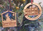 Custom USA Made - Wood Ornaments sized at 3.5