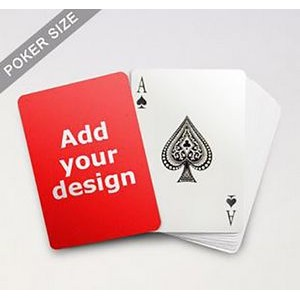 "2.44"" x 3.42"" - Full Color Printed Poker Playing Cards and Box"