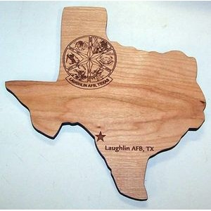 "8"" x 10"" - Hardwood Plaques - Customized Cutouts and Engraved - USA-Made"