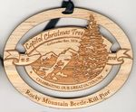 Custom USA Made - Wood Ornaments sized at 2