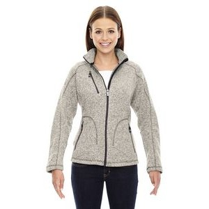 NORTH END SPORT RED Ladies' Peak Sweater Fleece Jacket